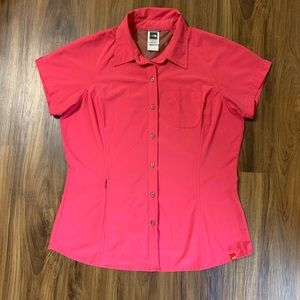 The North Face Hot Pink Dri Fit Button-Up Shirt